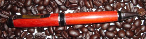 African Padauk and platinum cigar pen