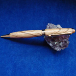 Diagonal Cut Oak European Pen