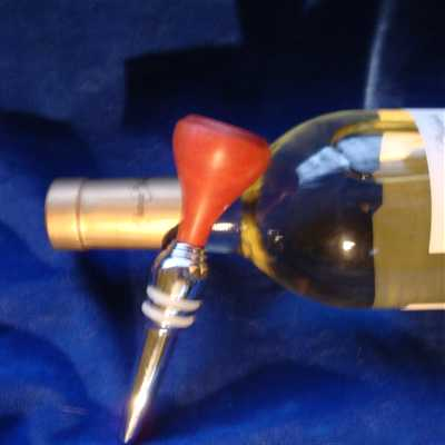 Pink Ivory wine stopper
