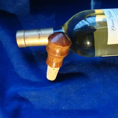 A beautiful handcrafted wine stopper