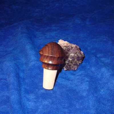 African blackwood wine stopper