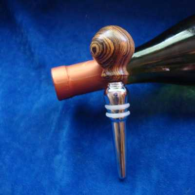 Bocote Wine stopper makes a great gift