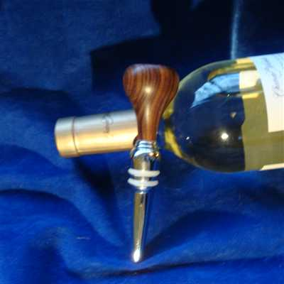 A beautiful handcrafted Bolivian Rosewood wine stopper